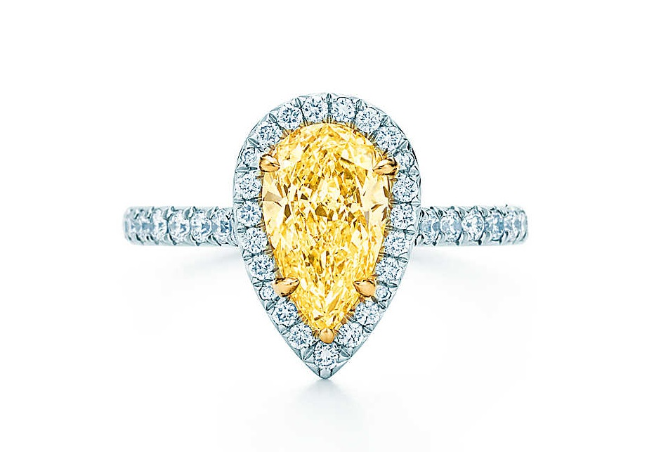 Anello Tiffany Soleste con diamante giallo