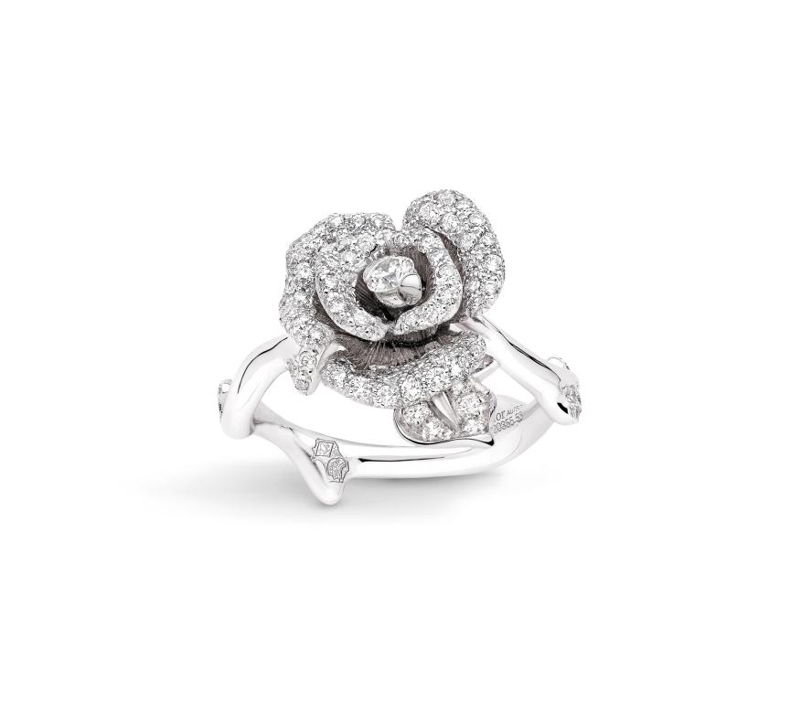 Anello di fidanzamento in oro bianco Dior