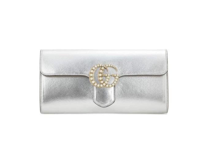 Pochette argento Gucci