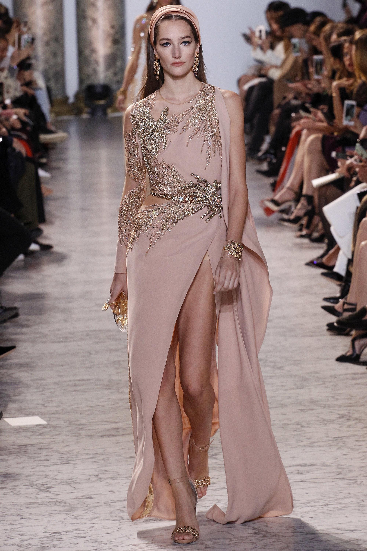 Vestito oro e rosa Elie Saab