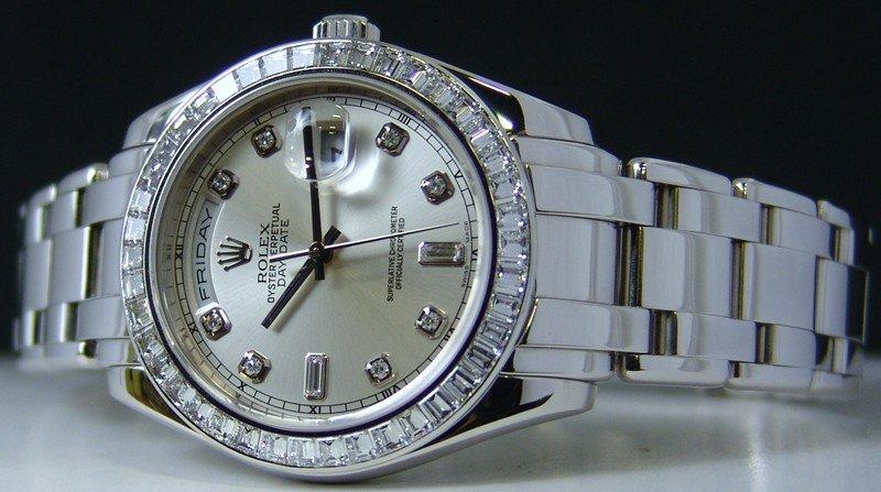 Rolex Platinum Pearlmaster 18956