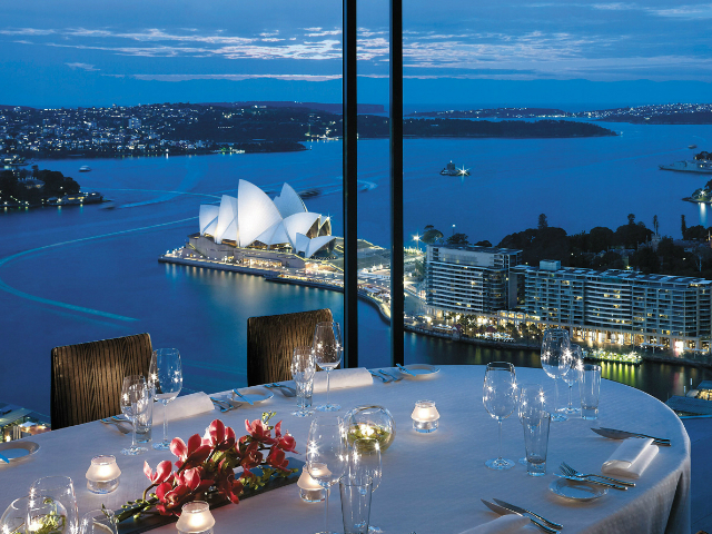 ristoranti panoramici skyline restaurant Altitude at Shangri La Sydney