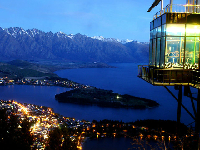 ristoranti panoramici skyline restaurant quennstown nuova zelanda