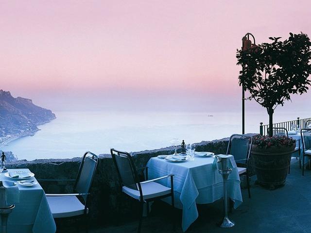 ristoranti panoramici skyline rossellinis ravello