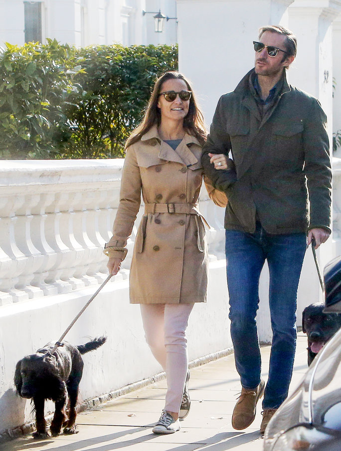 *EXCLUSIVE* Pippa Middleton and James Matthews pictured for the first time since engagement! **WEB MUST CALL FOR PRICING** **NO SUBSCRIPTIONS**