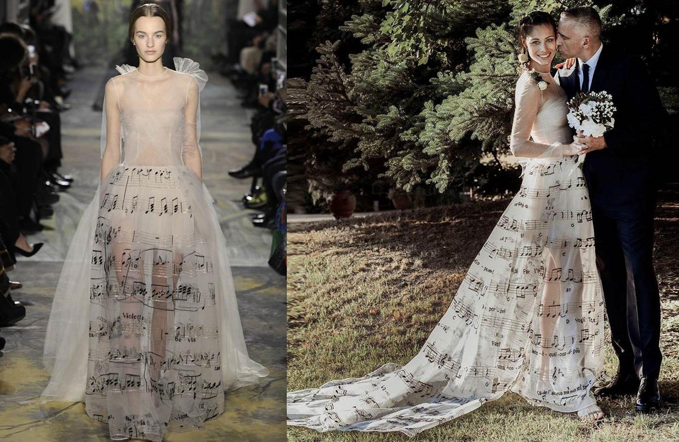 L'abito Valentino indossato da Marica Pellegrinelli