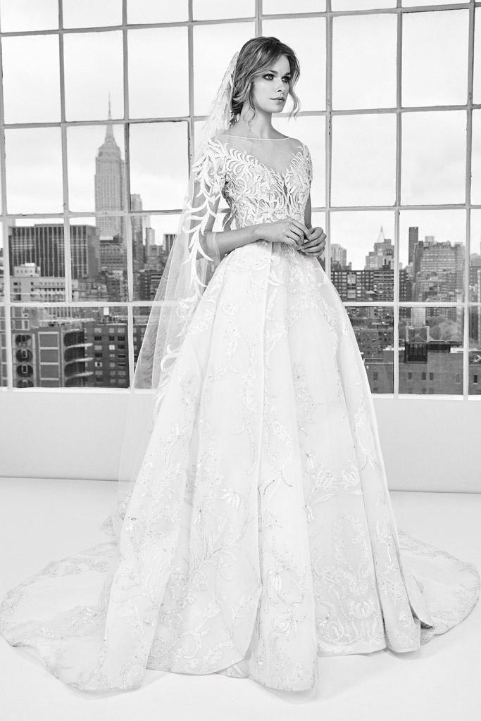 Vestito da sposa con gonna svasata