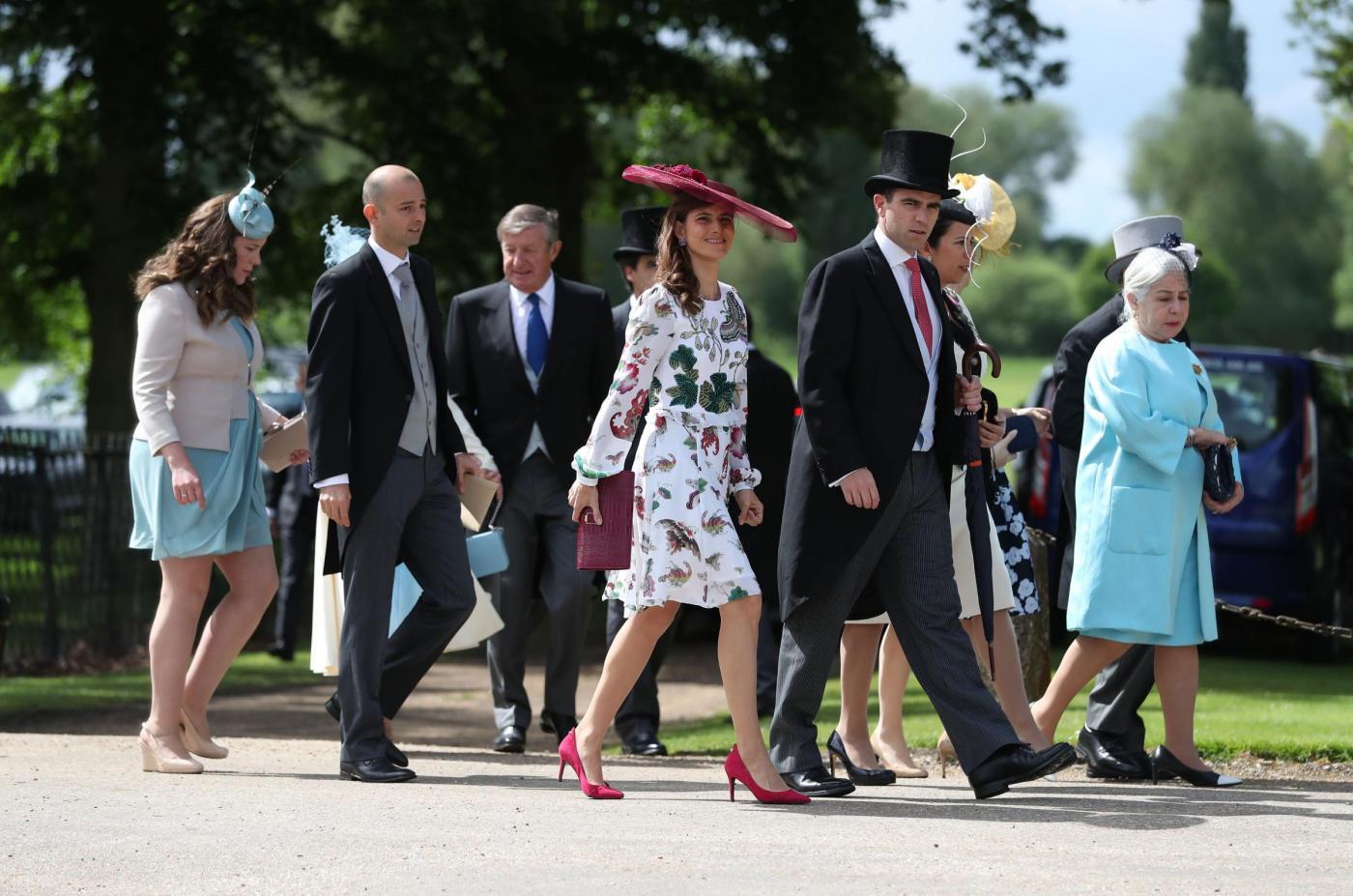 Englefield, l'arrivo degli ospiti al matrimonio di Pippa Middleton