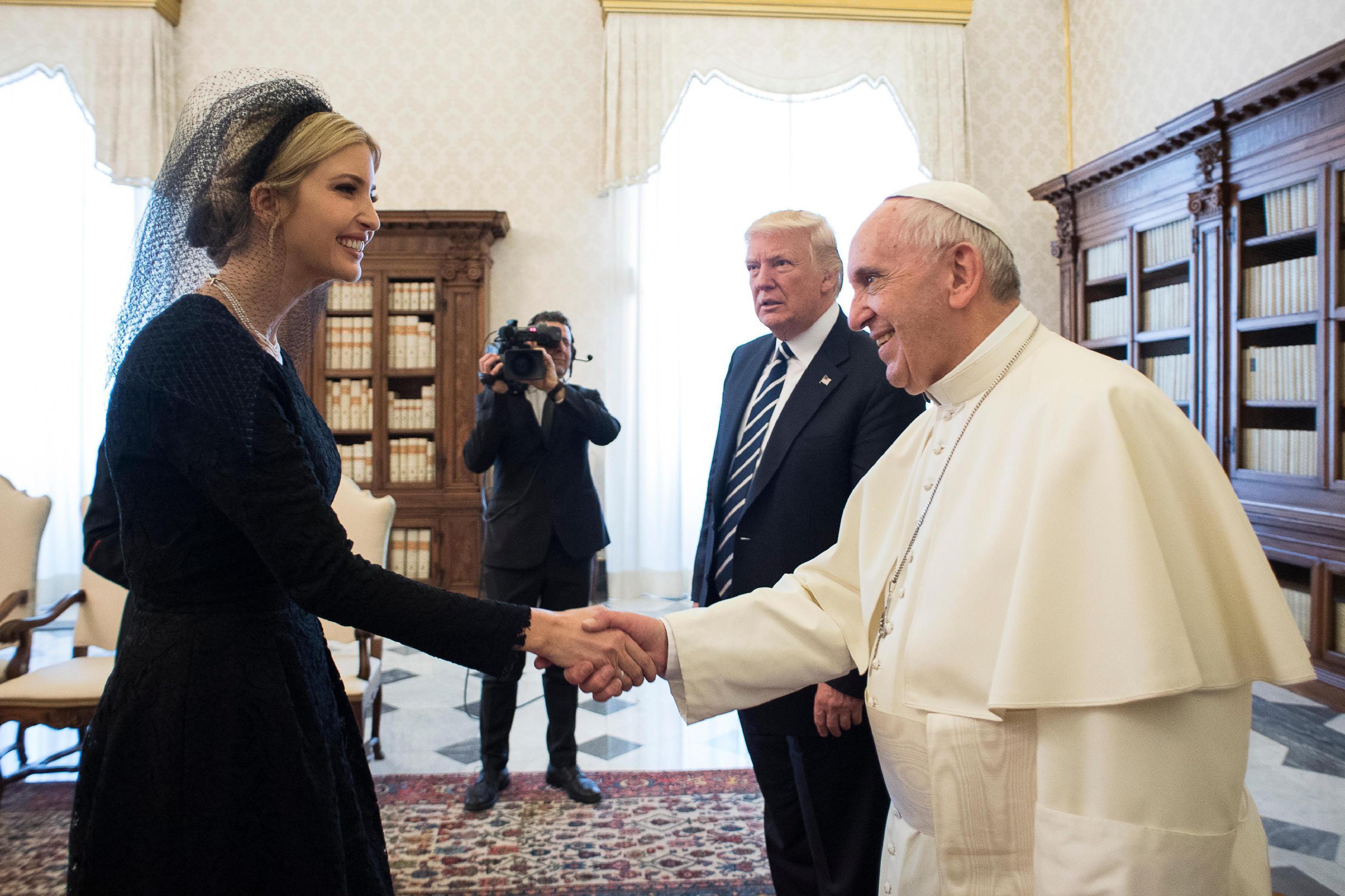 Ivanka Trump da papa Francesco