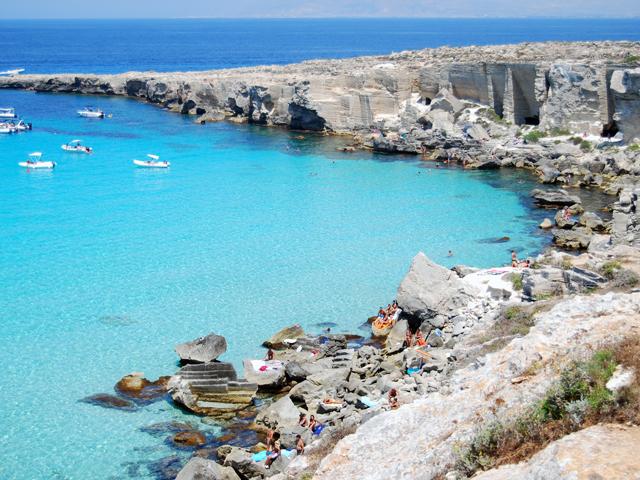 Cala Rossa Favignana spiagge più belle d'europa