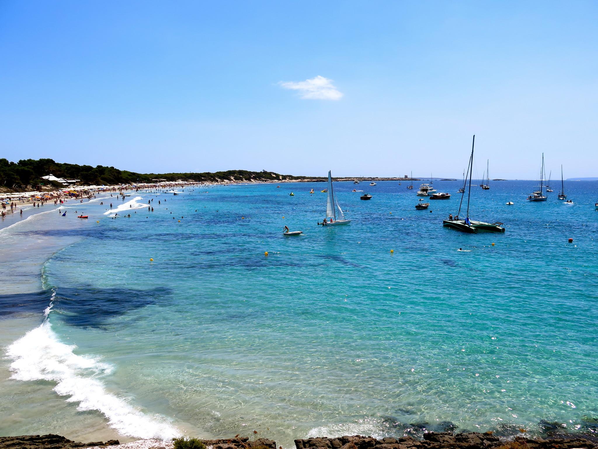 La spiaggia di Las Salinas a Ibiza