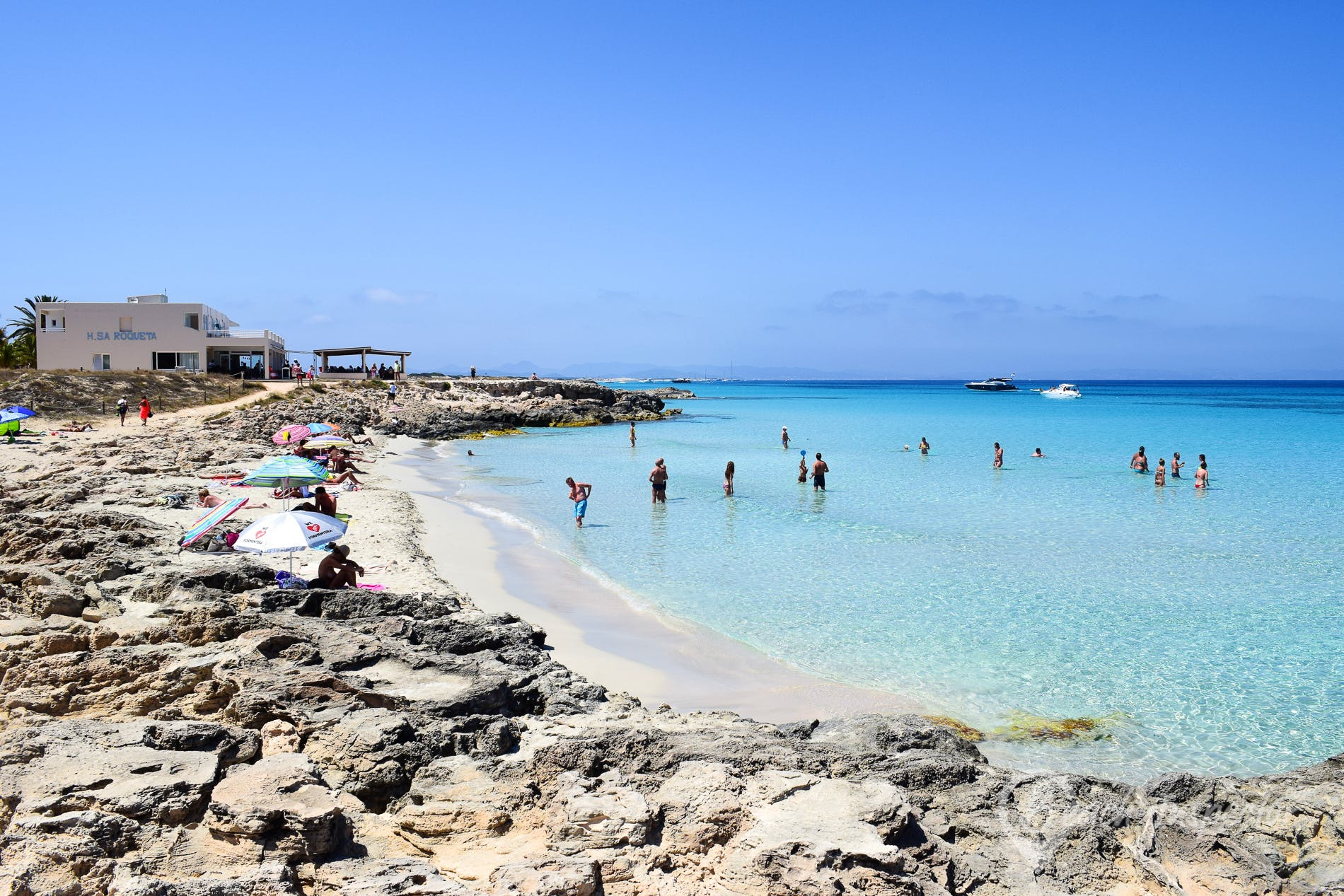 Playa Sa Roqueta a Formentera