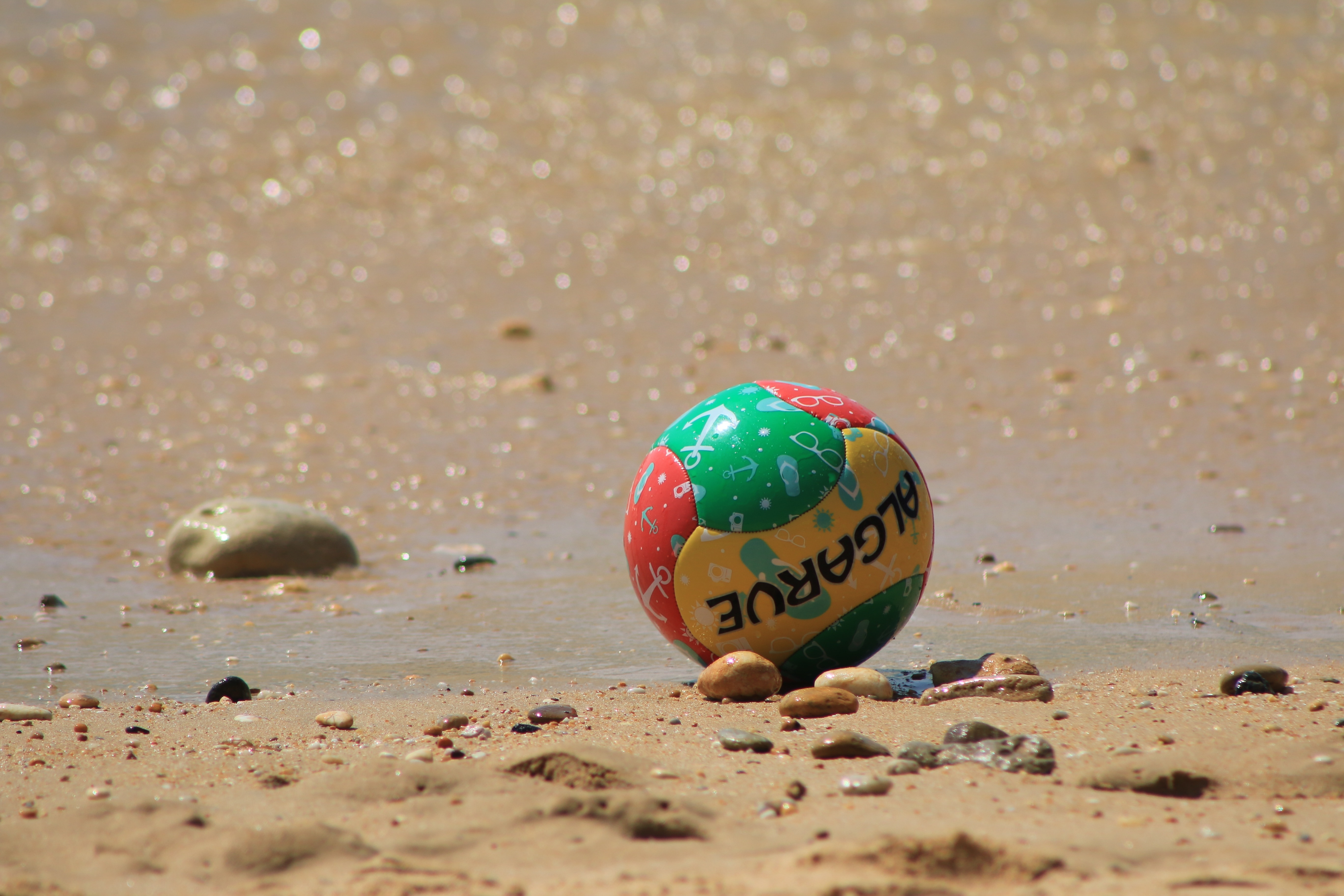 algarve colored ball beach football wallpaper