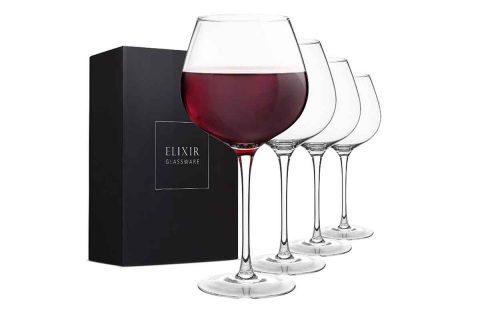 bicchiere da vino rosso set