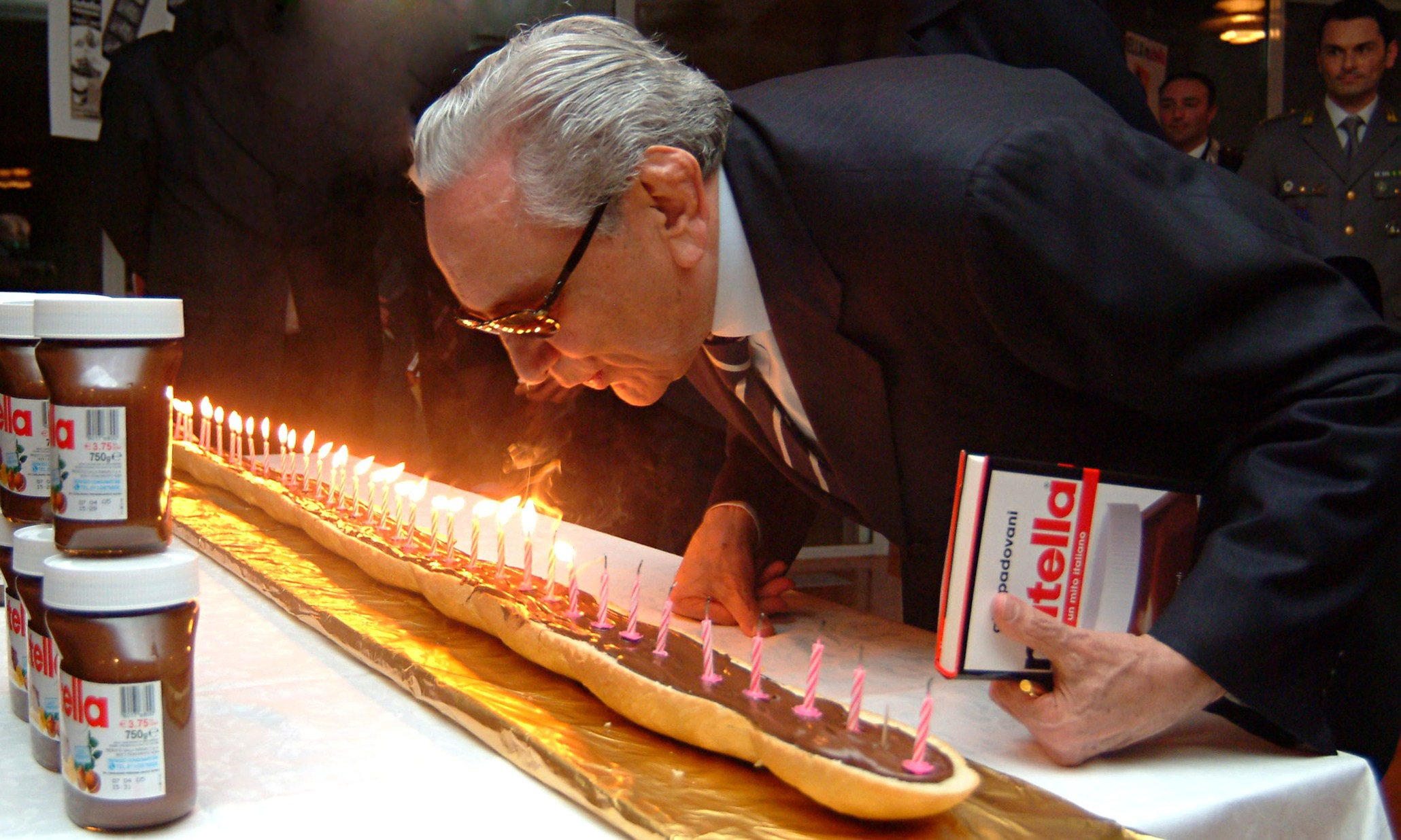 Michele Ferrero blows out candles on 40th anniversary of his famous Nutella chocolate spread