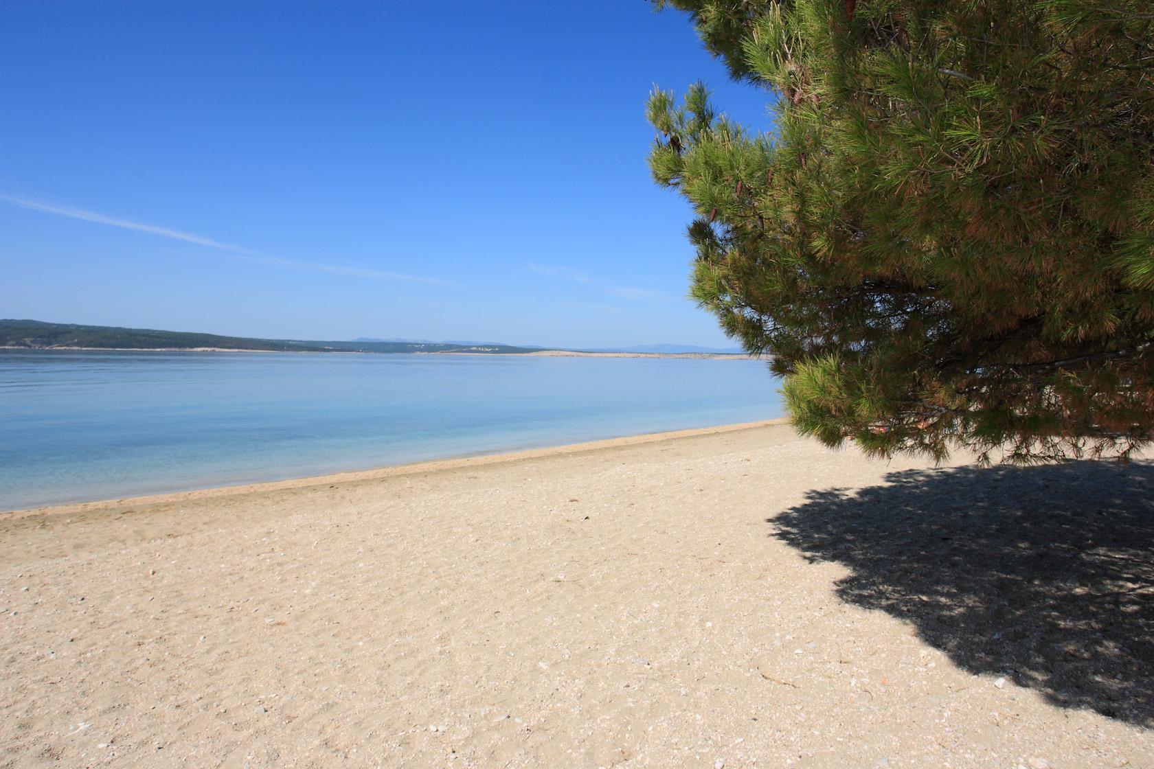 Crikvenica, il dettaglio della spiaggia
