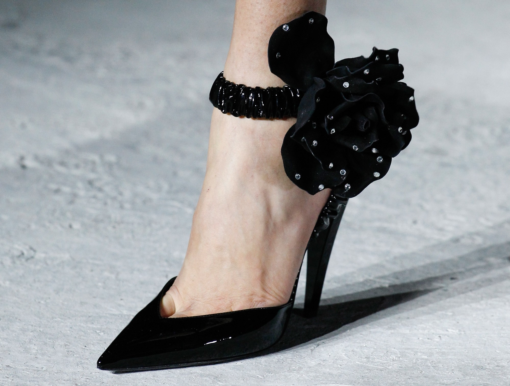 Scarpe a punta Saint Laurent