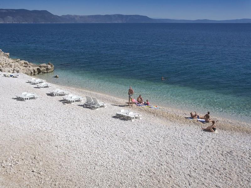 Spiaggia Lanterna a Rabac