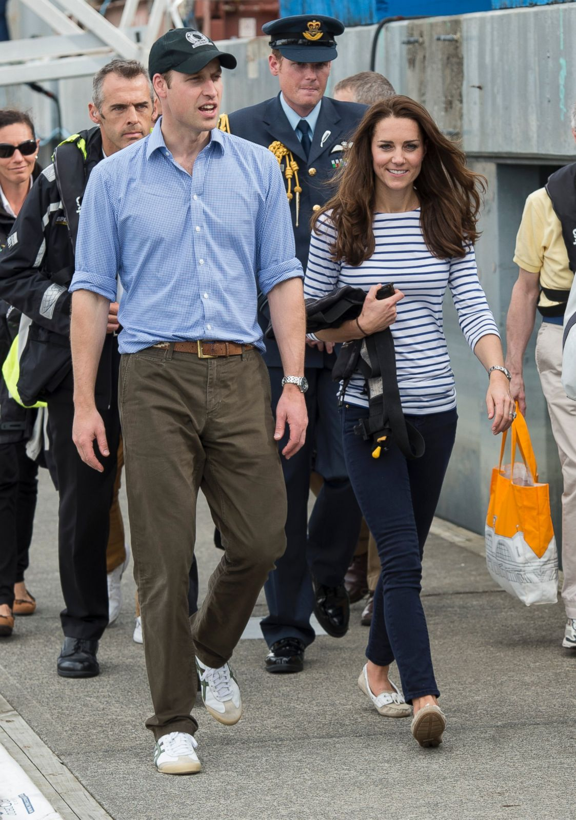 kate e william d'inghilterra vestono casual