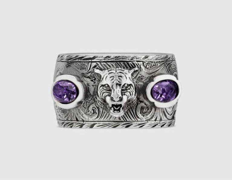 Anello a fascia Gucci in argento