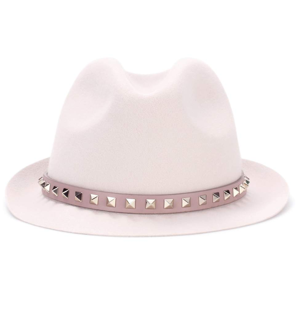 Cappello fedora in angora Valentino