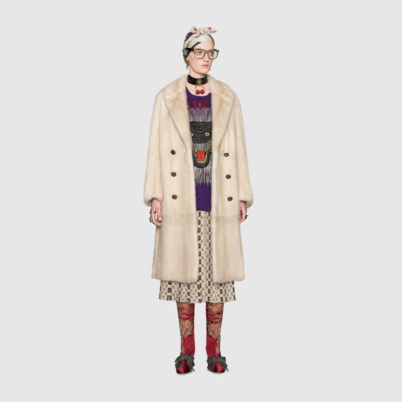 Cappotto in pelliccia di visone Gucci
