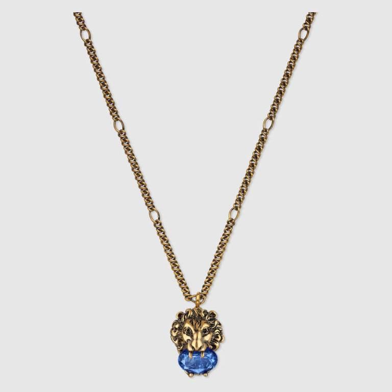 Collana in oro con cristalli Gucci