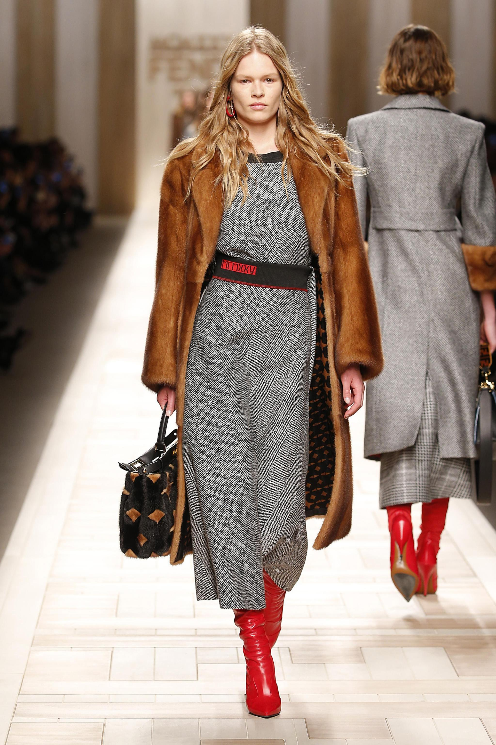 Fendi Runway Milan Fashion Week Women's Collections F/W 2017/2018