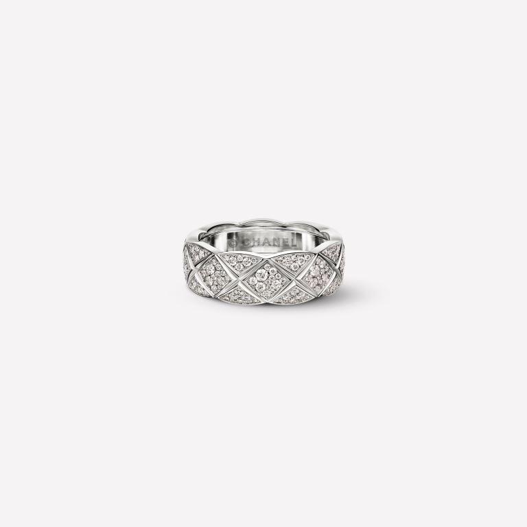 Anello Chanel Coco Cruch in oro bianco con diamanti