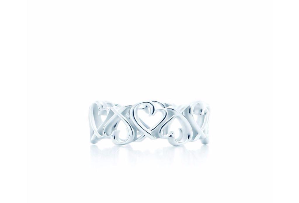 Anello in argento a corona Tiffany