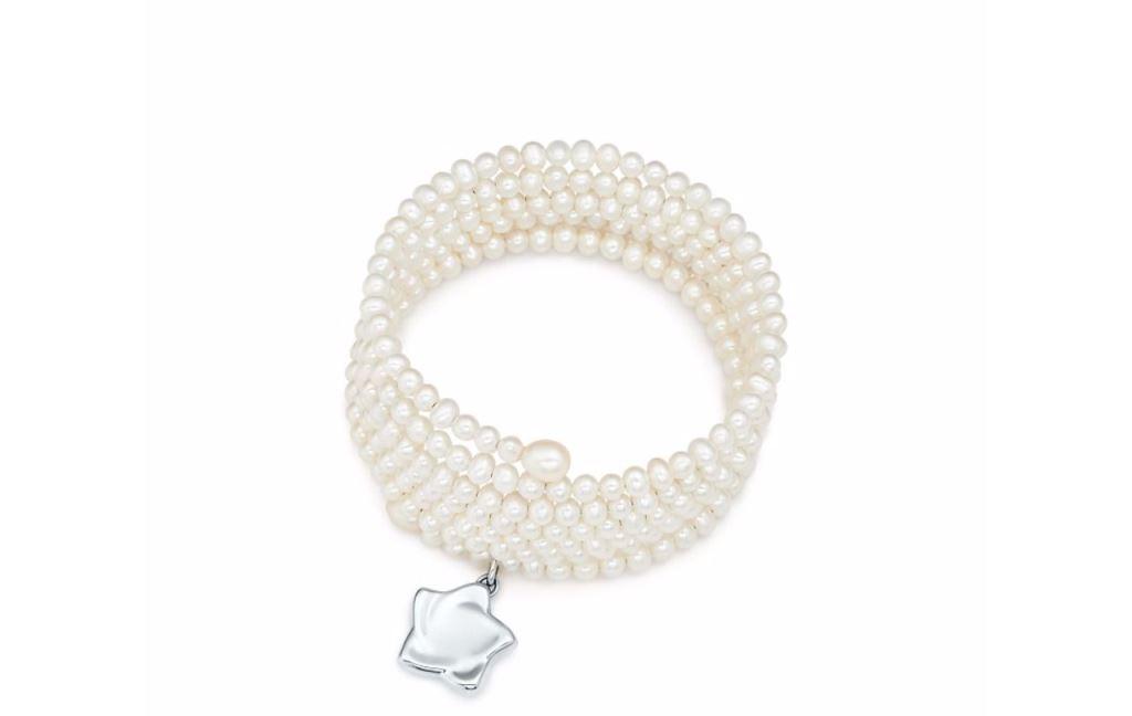 Bracciale di perle con ciondolo in argento Tiffany