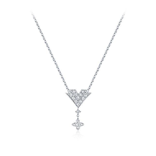 Collana in oro bianco con diamanti Louis Vuitton