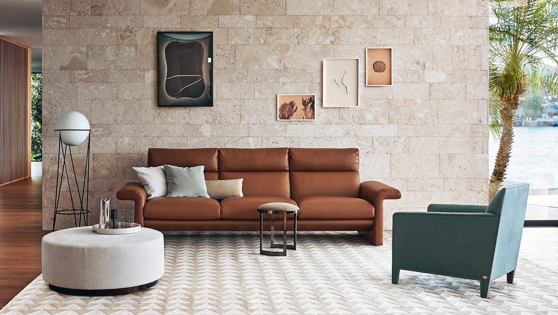 Come arredare soggiorno lusso divani