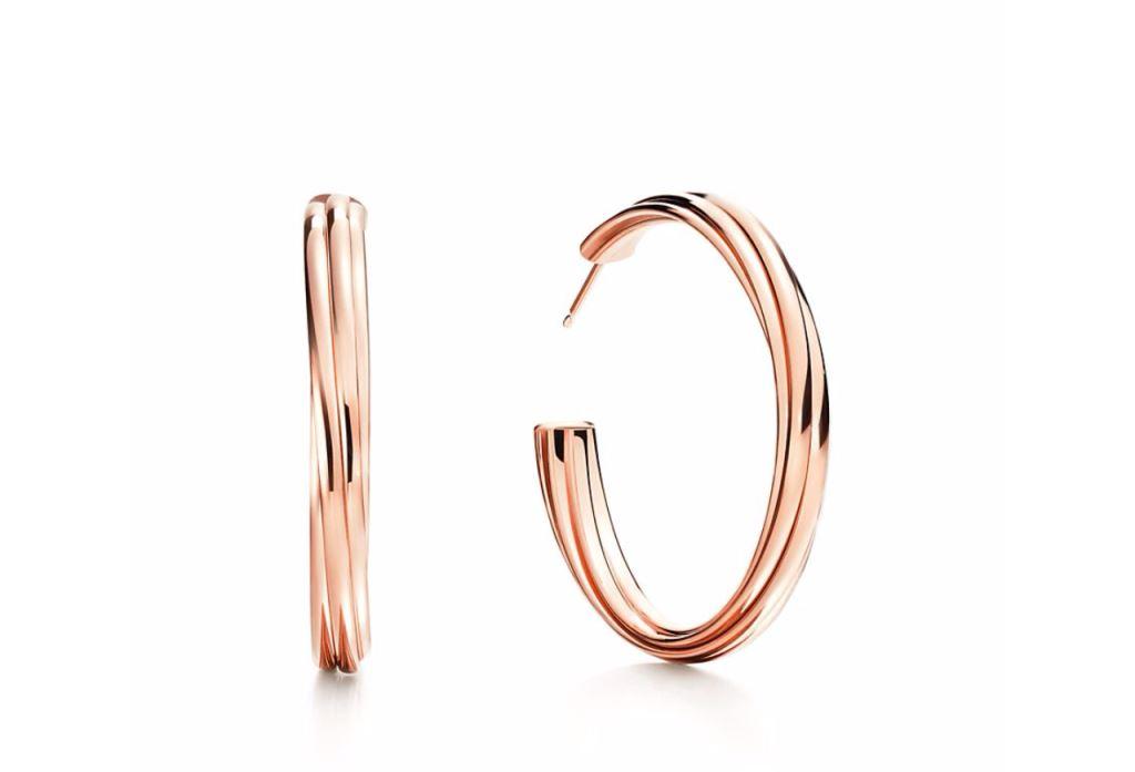 Orecchini a cerchio in oro rosa Tiffany