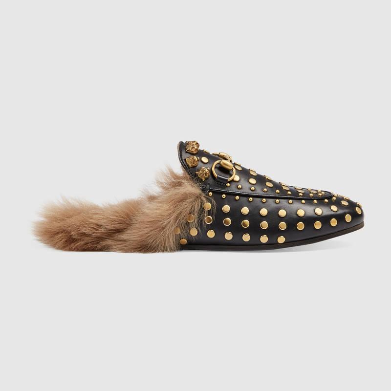 Slippers con borchie