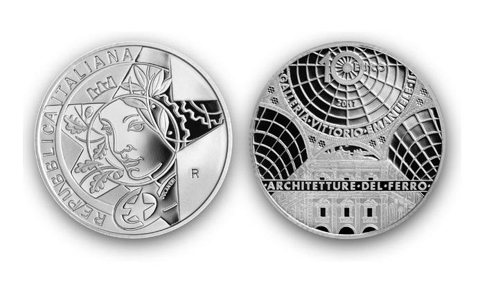 la moneta per il 150 anni della galleria vittorio emanuele a milano