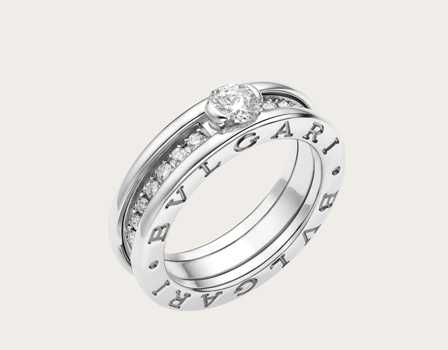 Anello Bulgari B Zero 1 con diamanti