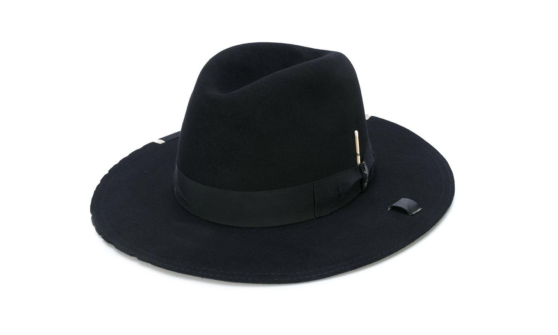 Cappello uomo Borsalino nero a tesa larga