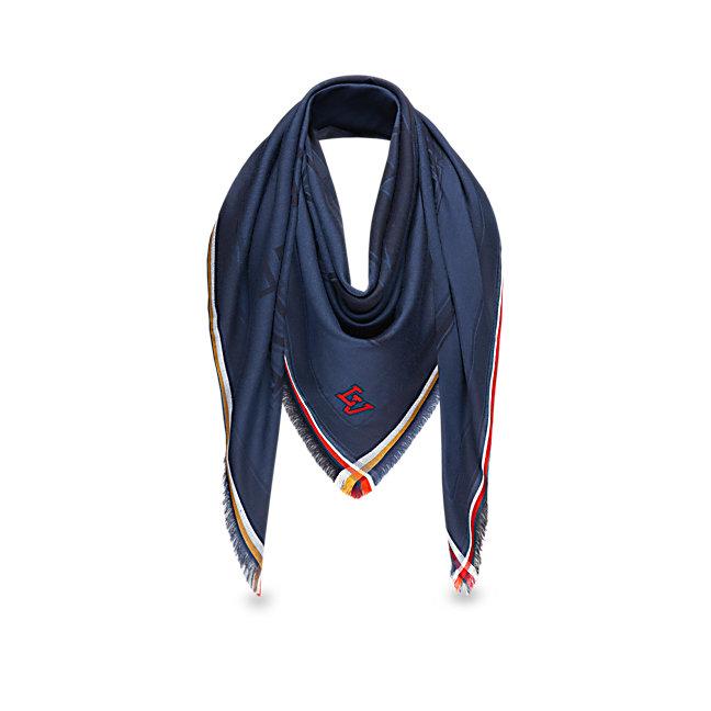 Foulard uomo Louis Vuitton in seta e lana