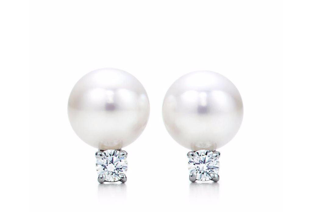 Orecchini con perle e diamanti Tiffany