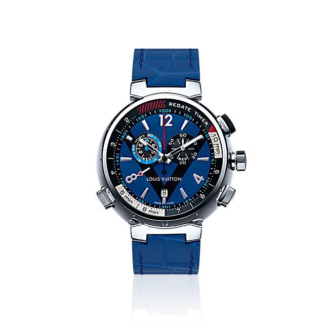 Orologio uomo Louis Vuitton TAMBOUR REGATTE NAVY 44 con funzioni per la regata