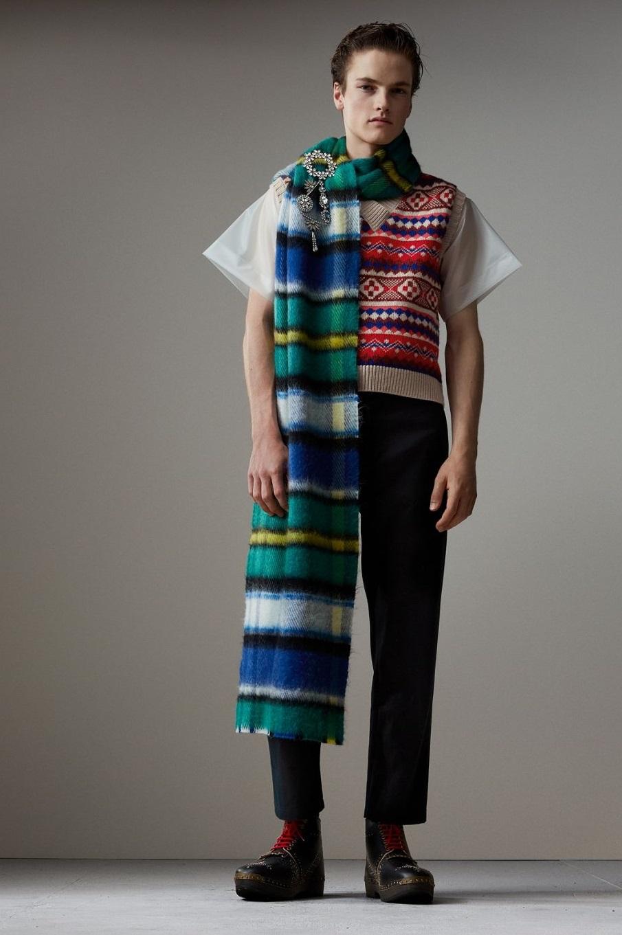 Sciarpa uomo Burberry London in lana