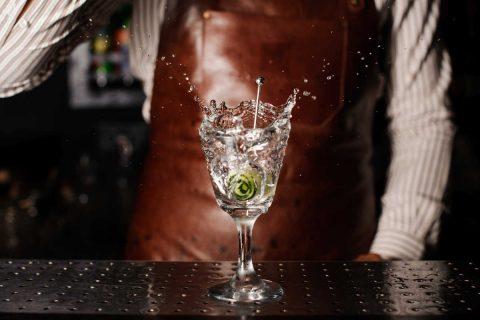 Bicchiere di gin
