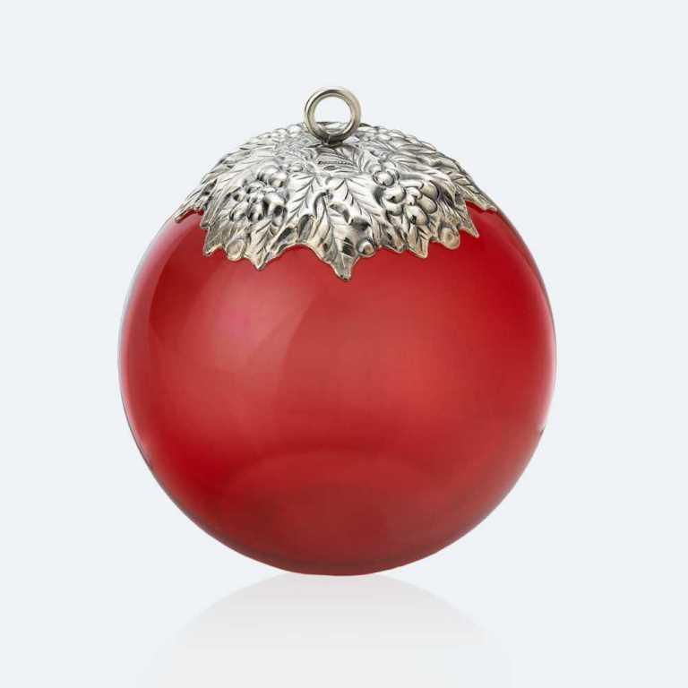 Addobbo natalizio Buccellati in vetro e argento