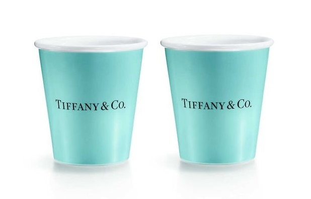Bicchieri in porcellana tiffany & co