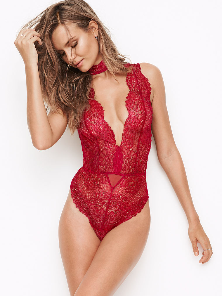 Body in pizzo rosso Victoria's Secret