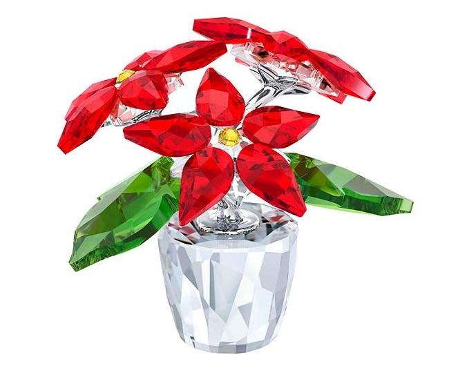 Decorazioni natalizie per casa e albero Stella di Natale in cristallo Swarovski