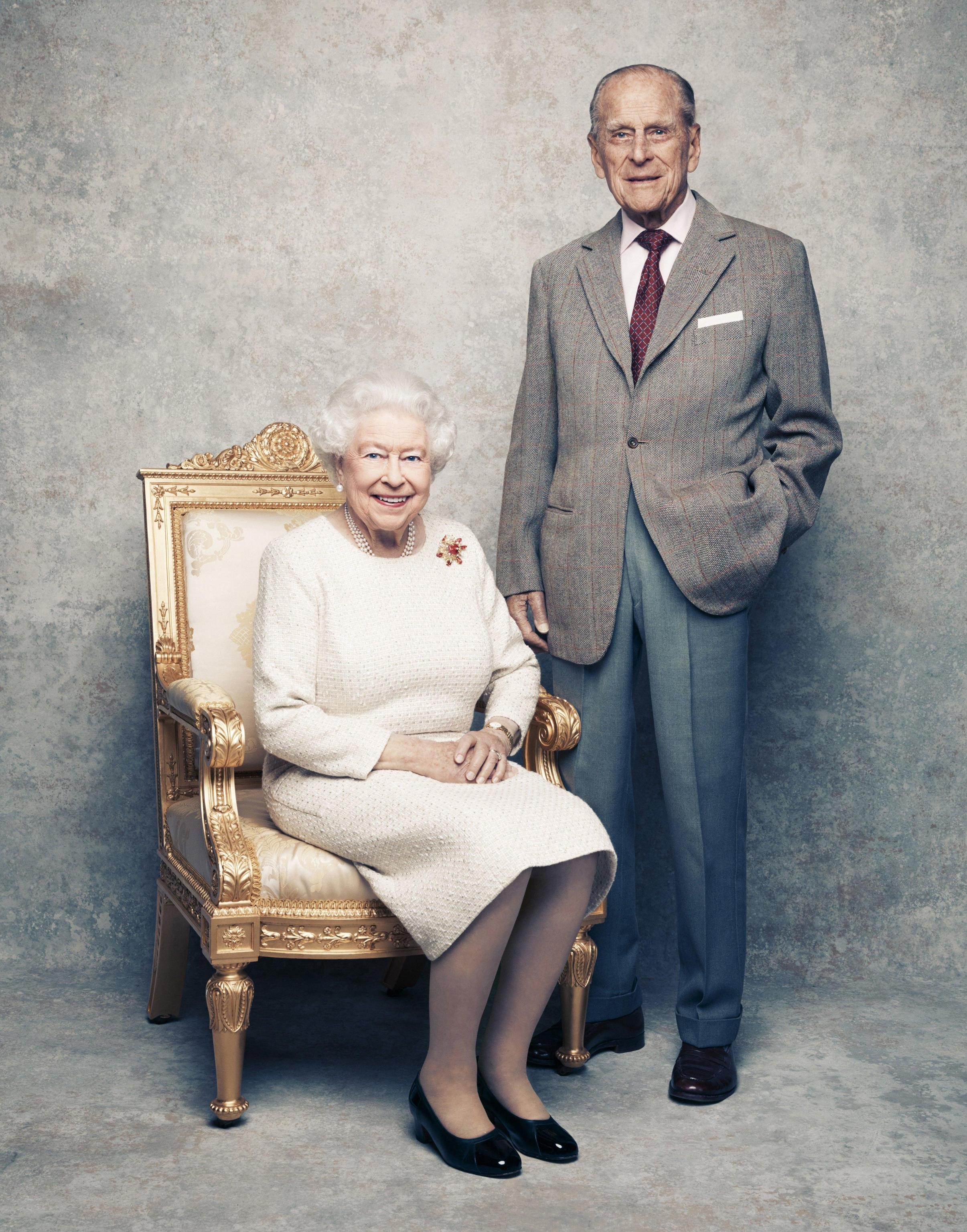 A new portrait of the Queen and Prince Philip 70th wedding anniversary