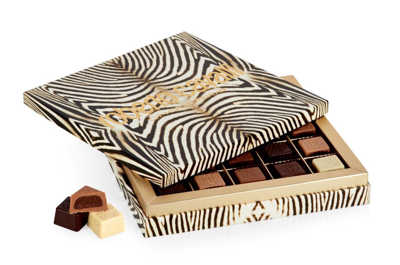 Set di praline al cioccolato Roberto Cavalli