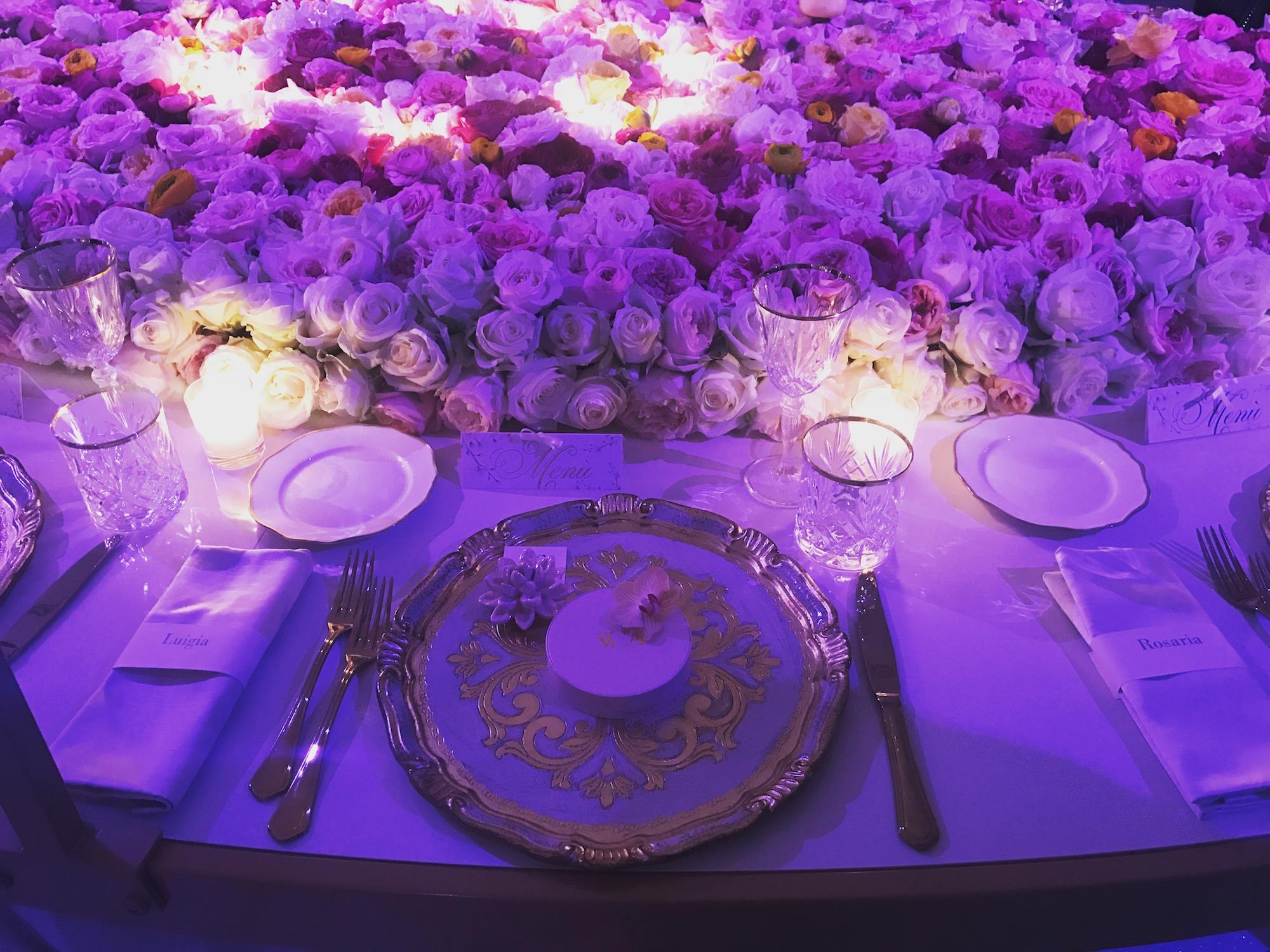 Uno dei tavoli allestiti da Cira Lombardo